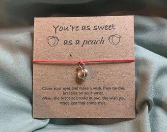 Peach Friendship, Wish Bracelet