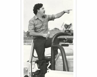 Pablo Escobar Poster - Print - Wall Art, Digital Painting Style