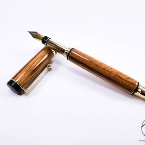 Handcrafted Slim Pen Antique Brass Spalted Tamarind Wood