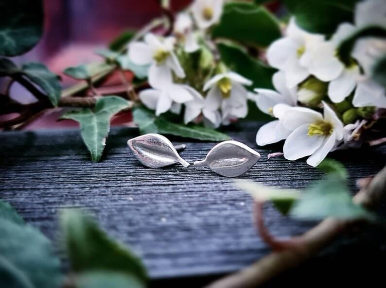 Solid silver sheet earrings 925