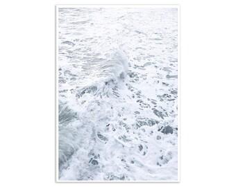 Beach Print, Beach Canvas Print, Beach Decor, Waves Art Print, Beach Poster Art Coastal Art Coastal Decor Coastal Art Print Large Canvas Art