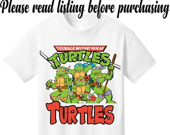 ce5c0ed8 Custom Ninja Turtles Unique Personalized add your name! awesome birthday  present! Tshirt cute! Kids and adult sizes
