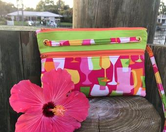 Pink Spring Break Bag - Tropical Drinks