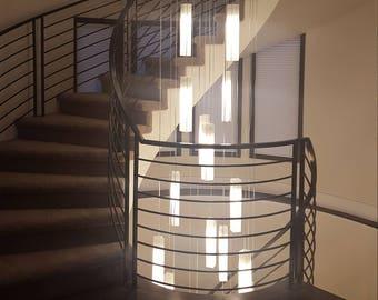 White Foyer Lighting : Foyer chandelier etsy