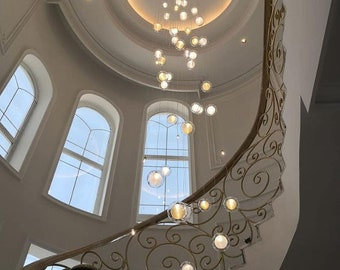 Staircase Chandelier Etsy