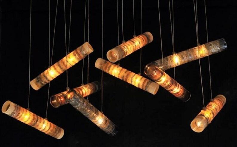 Hand-blown-glass pendant light staircase lighting led CHARM farmhouse-lighting-multi-pendant-chandelier Modern-custom-dining-chandelier