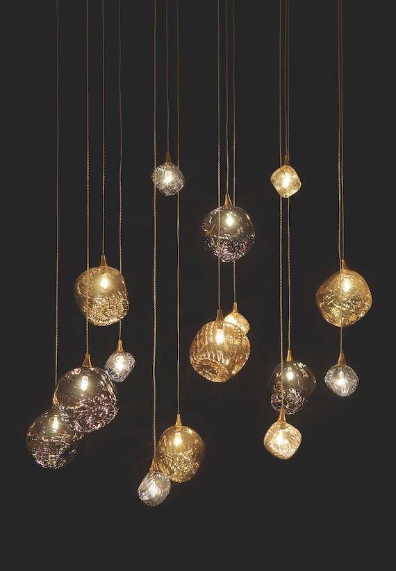 Irregular Globe Pendant Light Aurora Modern Etsy