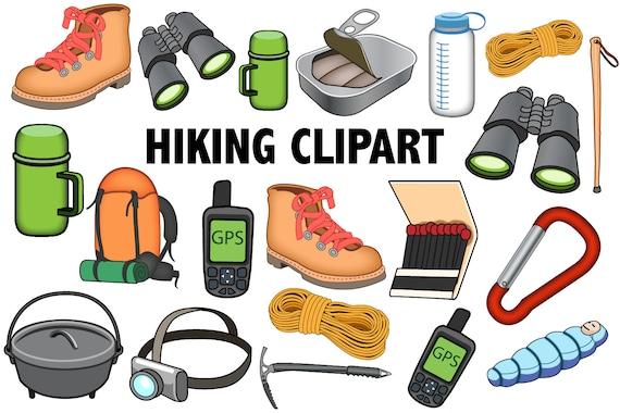 Wandern CLIPART im freien überleben Icons camping Abenteuer liefert Clip Kunst Illustrationen