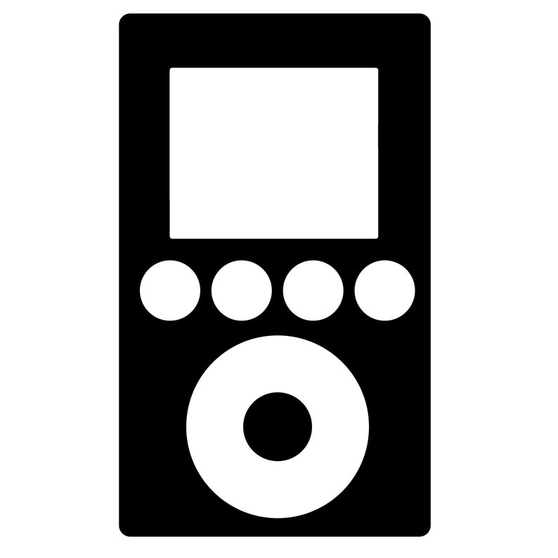 MUSIC SVG - music icons SVG - ipod, cassette, record, microphone