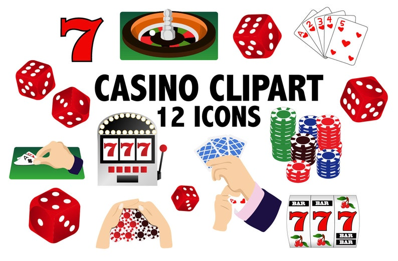 photo regarding Printable Card Games named On line casino CLIPART - Card game titles and printable gambling icons