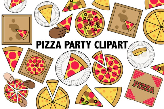 image about Printable Pizza called PIZZA Social gathering CLIPART - Printable Pizza Photographs -pizza parlor get together decor - children birthday celebration icons, meals clip artwork