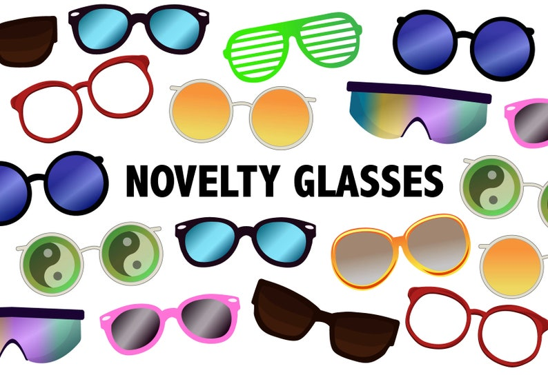 6babfb727d NOVELTY GLASSES CLIPART Printable sunglasses icons