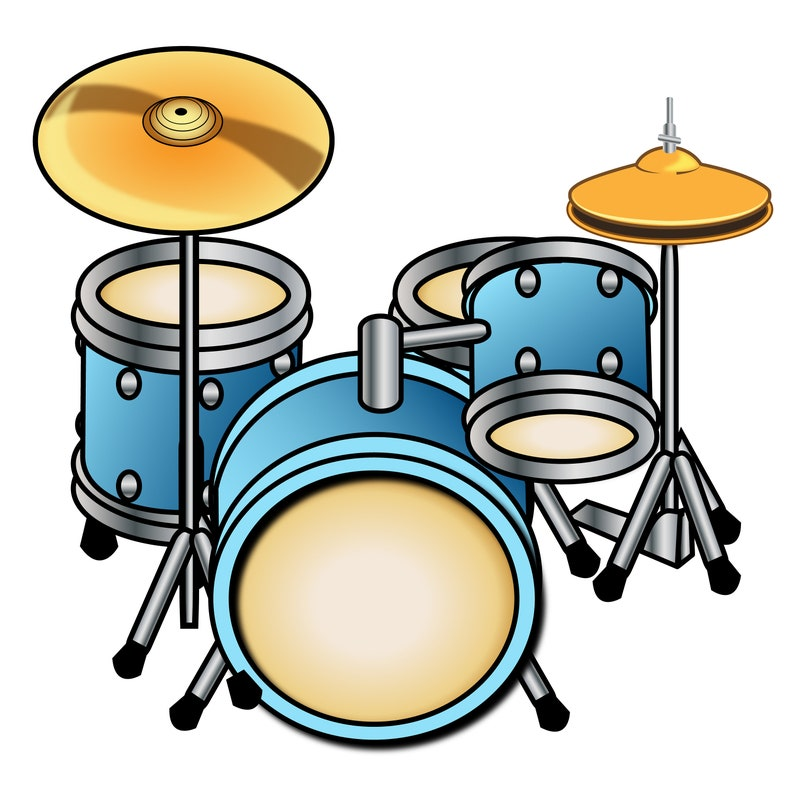 Percussion Clipart Digital Drum Clipart Printable Musician Etsy