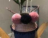 Beautiful Handmade Pom Pom Belly Baskets