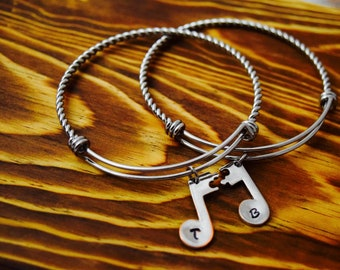 Music Note Friendship Bangles