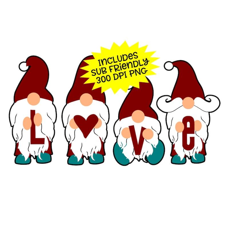 Download Gnome Svg Love Svg Gnome Shirt Valentine Svg Nordic Svg | Etsy
