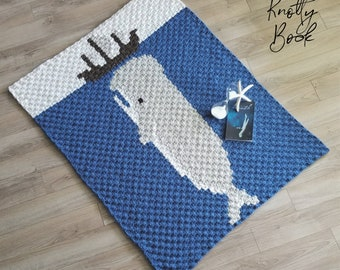 Crochet C2C Blanket Pattern | Moby Dick Lapghan | PDF instant download