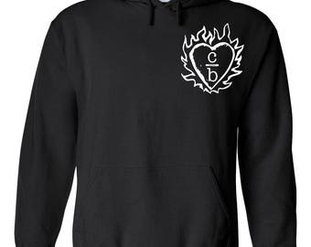 """One Tree Hill TV Show OTH """"Clothes Over Bros Heart Logo in Corner"""" Hoodie"""