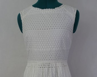 white sleeveless dress by j crew