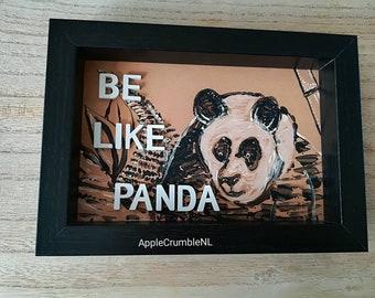 Photo frame painting panda