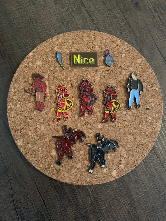 Full Dragon Armor - OSRS pins - runescape enamel pin - 2007scape - old  school runescape hat pins