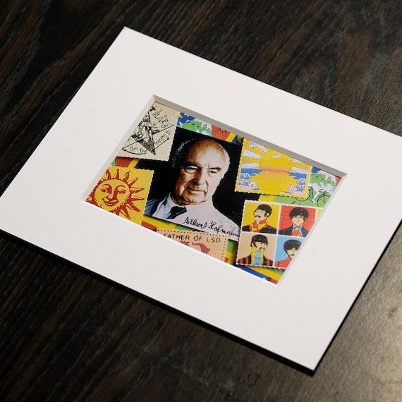 Albert Hofmann Father of LSD blotter art photo collage n1