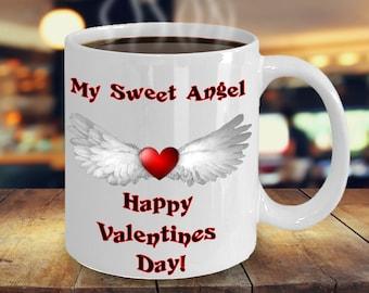 My Sweet Angel Valentines Day Coffee Mug