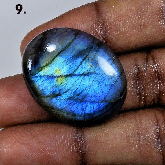 25 pic.natural blue flashy Labradorite pear shape cabochon loose gemstone for jewelry