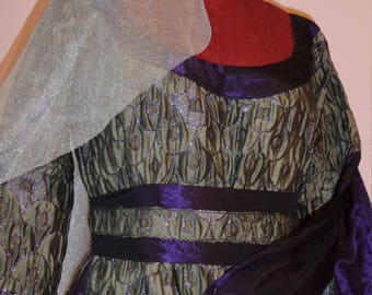 """Medieval theatrical carnival dress """"Checkers"""""""