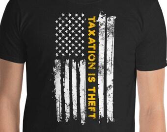 cc0cf8b1b Taxation Is Theft Shirt, Libertarian Shirt, Conservative Shirt,  Anti-Establishment, Libertarian T-Shirt, Anarchist T Shirt, Anarchist Shirt