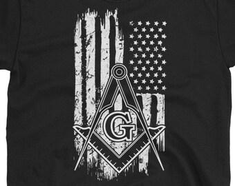 Freemason American Flag Shirt, Freemason Shirt, Freemason Gift, Freemason Logo, Freemason T-Shirt, Freemason Tee, Freemason Clothing