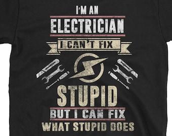 06e848d6b Electrician Gift, Electrician Shirt, Gift For Electrician, Electrician  TShirt, Electrician Gifts, Awesome Electrician, Electrician T-Shirt