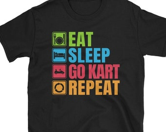GO KART RACING Evoluzione dell/'Uomo Ragazzi T-Shirt Tee Top Abbigliamento regalo