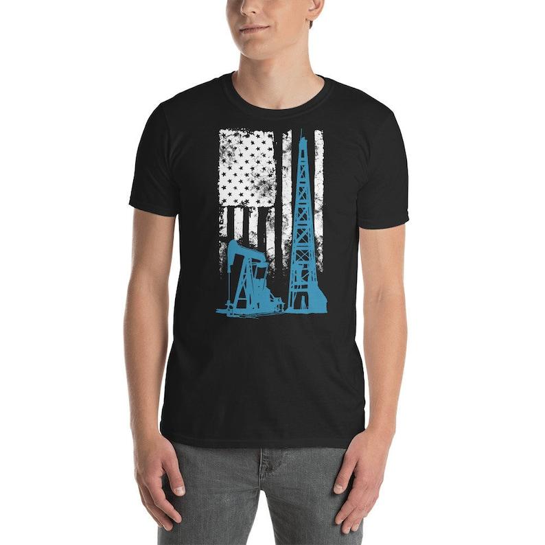 e723ebb3 American Flag Oil Worker Shirt Roughneck Tshirt Us Oilfield | Etsy