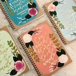 Customizable | FLORALS THEME | Hand Painted | Prayer Journals | Spiral Notebooks