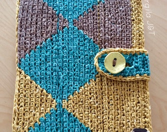 Crochet tablet case
