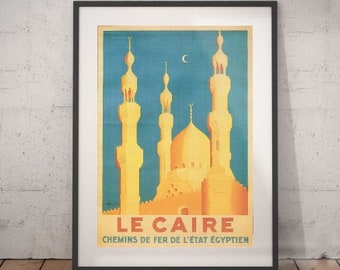 """24x36 1930s /""""Egypt For Romance/"""" Vintage Style Classic Travel Poster"""