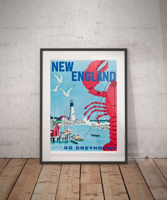 Nouvelle Angleterre Nouvelle Angleterre voyage poster | Etsy