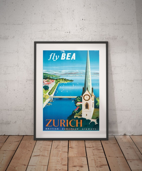 Vintage 1946 Cycling World Championships Zurich Poster Print A3//A4