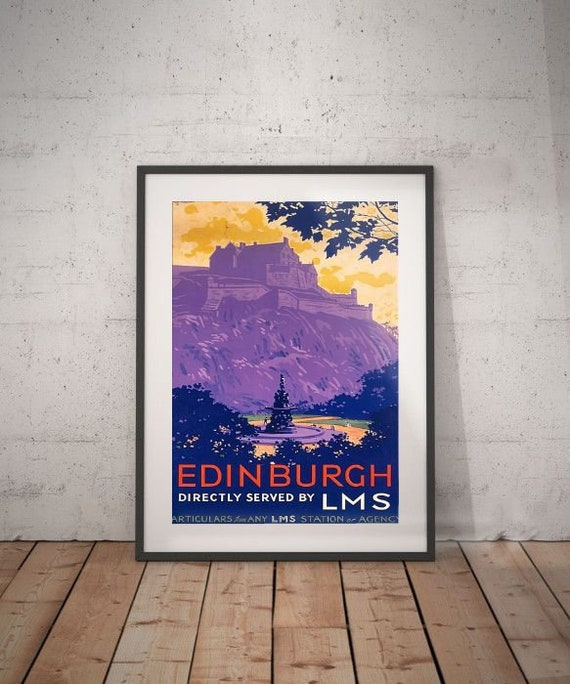 Edinburgh Edinburgh Travel Poster Wall Decor Vintage