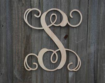 Wood Script Letters