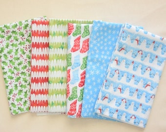 Christmas Quilting Fabric Bundle, Organic Cotton