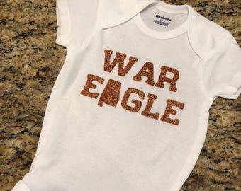 """Baby Onesie-""""War Eagle"""""""
