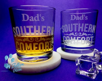 Dad's Southern Comfort - Engraved Low-Ball Glass