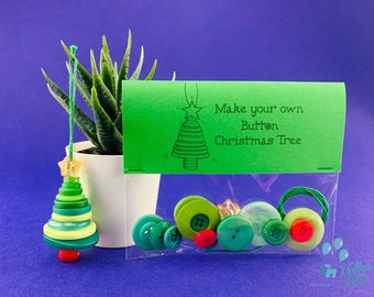 Make Your Own Button Christmas Tree Kit - Christmas Tree Decoration - Christmas  Teacher Gift - Christmas Eve Crate Activity - Christmas Eve
