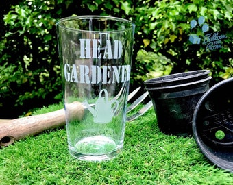 Head Gardener - Father's Day - Engraved Pint Glass