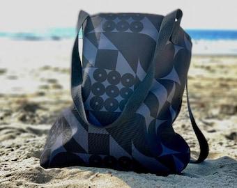 FormPattern Black on Grey Tote Bag