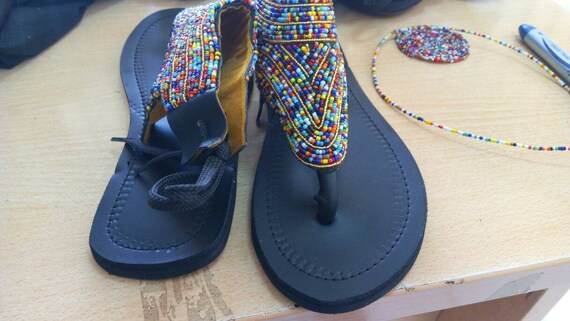 african kenyan sandals sandal clothing ON african sandals african masai sandal beaded SALE IqwSUSXtH