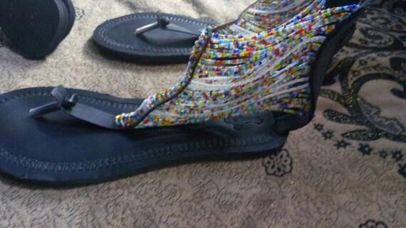 Sandales sandale africaines sandales perles vente africaine kenyan sandale v masai wOqr7OxXU