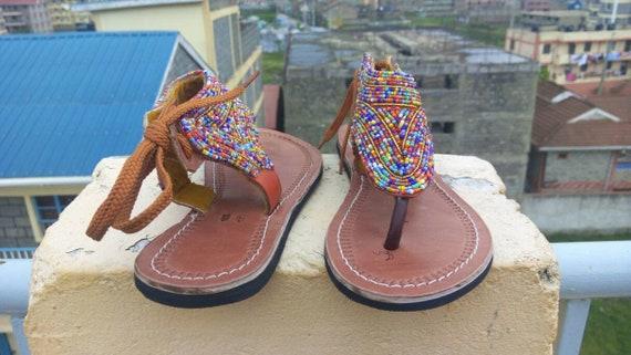 sandale africaines Sandales sandales masai africaine v perles kenyan sandale vente xCx1BAPwq